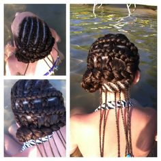 Corn row (dutch braid) weave