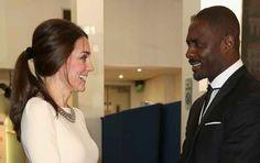 EXCITEMENT. | Kate Middleton Meets Idris Elba
