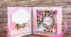 Hello everyone! Klaudia here. I& like to share with you a book card. It was a special birthday gift for a lady named Vesela. She loves p. Fun Fold Cards, Cute Cards, Card Book, Shaped Cards, Beautiful Handmade Cards, Card Tutorials, Handmade Birthday Cards, Tampons, Flower Cards
