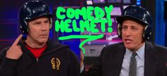 Because according to FOXNEWS, comedians wear helmets.