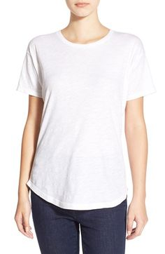 Free shipping and returns on Madewell 'Whisper' Cotton Crewneck Tee at Nordstrom.com. Every wardrobe needs the perfect slouchy tee that can be easily mixed and remixed with just about everything in your closet. This lightweight base layer fits the bill and features a cute shirttail hem.