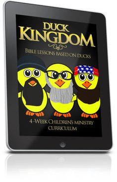 Free Children's Ministry Lesson that uses ducks to teach kids lessons from the Bible. This is from the Duck Kingdom Children's Ministry curriculum series. Sermons For Kids, Bible Activities For Kids, Bible Stories For Kids, Bible Study For Kids, Free Sunday School Lessons, Kids Church Lessons, Bible Lessons For Kids, Childrens Ministry Deals, Children Ministry