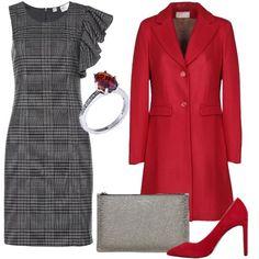 ae7d6bb00ecd Rosso e grigio sempre perfetti  outfit donna Chic per serata fuori