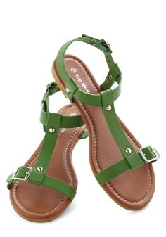 I hate ankle straps but these are too cute- cute casual summer flats - Coastline Stroll Sandal with buckles in Coral Cute Sandals, Cute Shoes, Flip Flop Sandals, Me Too Shoes, Shoes Sandals, Green Sandals, Heeled Boots, Shoe Boots, Summer Shoes