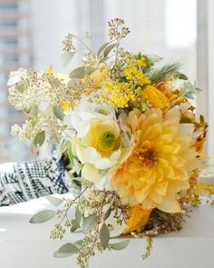 """See the """"An Eclectic Mix"""" in our Yellow Wedding Bouquets gallery"""