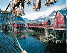 Dormite in stile alle Isole Lofoten! Le Rorbu sono le case in legno dei pescatori che si affacciano sul molo. http://www.volagratis.com/promo/diari-di-viaggio/magic-norway/tappe/tappa-V.html