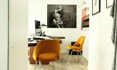 Chaises Conference d'Eero Saarinen dans le bureau d'Ingrid Seynhaeve créatrice de la marque June 7.2