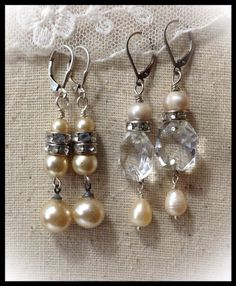 Wedding Day earrings, or for everyday!! By LjBlock Designs