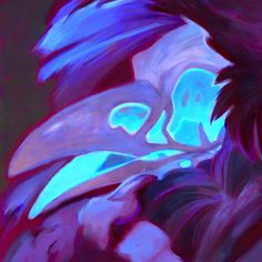 Painted portrait commission for skullbird.
