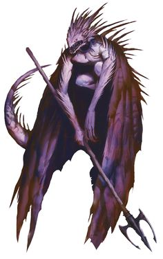 Devil, Spined (from the fifth edition D&D Monster Manual). Art by Michael Berube.