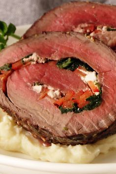 "If you've ever wished you were a guest at the wedding feast in ""Outlander,"" now's your chance! Listen to the beloved series while dining on this succulent roast beef and you'll feel like you're there. Best Beef Recipes, Meat Recipes, Vegetarian Recipes, Dinner Recipes, Cooking Recipes, Rolled Roast Beef, Comida Latina, Beef Dishes, Entrees"