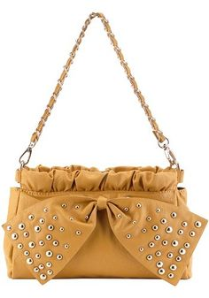 Kate M Studded City Tote Yellow