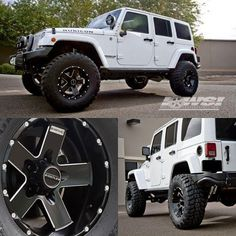 Jeep Rubicon equipped with our Hostile Moab Blade Cut 17x9's with extra meaty Kumho Tire Road Venture MT's via Wheel Specialists, Inc.. Time to get Hostile!
