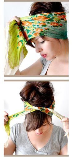 hair scarf tutorial