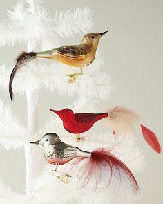 Handblown Clip-On Glass Bird Christmas Mood, Holiday Tree, Christmas Decorations, Christmas Ornaments, Holiday Decor, Metal Spring, All Holidays, Glass Birds, Christmas Traditions