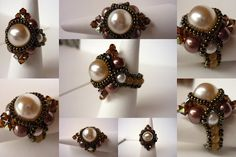 Beaded ring - Rossie in The Beadland