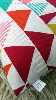 Tokyo Sunrise + Twilight Cushion with tutes @madebyChrissieD.com