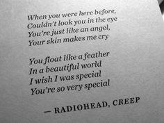 but i'm a creep