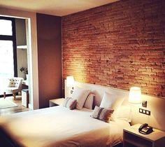 Inspiration, dormitorio, ladrillo, relaz