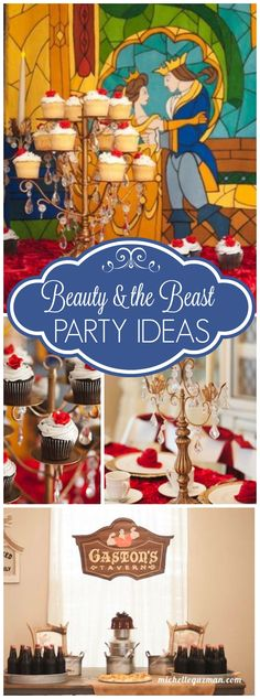 You must see this incredible Beauty and the Beast tea party! See more party ideas at CatchMyParty.com!