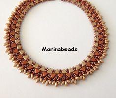 Beading KIT NEFERTITI Necklace Choice 2 colors by MarinaBeads06