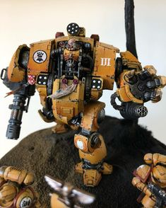 Kitbashed Redemptor dreadnought by therealbrokenfingers on DeviantArt Warhammer 40k Art, Warhammer Models, Warhammer 40k Miniatures, Imperial Knight, Imperial Fist, Star Citizen, Space Marine Dreadnought, Instagram Photo Video, Game Workshop