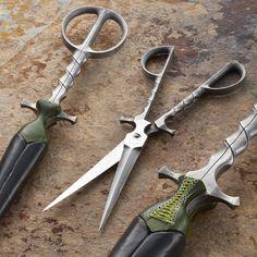 Handmade dagger scissors by Grace Horne and Josh Burrell. 'Twisted Seamstress'