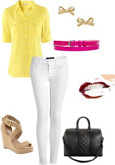 """""""Yellow"""" by chilluci on Polyvore"""