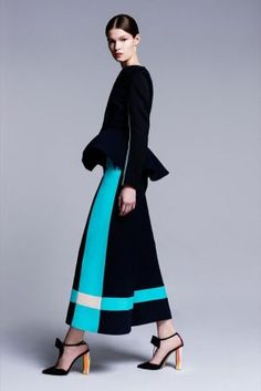 Would love to see these colours or similar in 'blocks' like this on a dancesport dress. Roksanda Ilincic Resort 2014 collection_3.jpg