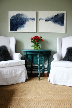 Caroline Inge's living room (Cool Paintings Abstract)
