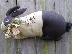 Folk Art Rabbit Doll Primitive Spring by PiecakePrimitives