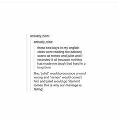 I'm still waiting for a lesbian or gay Romeo and Juliet smh wyd go make one -i☯…