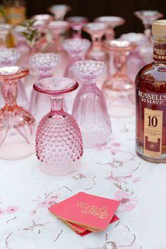 Love those pink goblets!