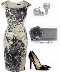 Styles featuring moda, Coast, Christian Louboutin, Lulu Townsend and Blue Nile Mode Outfits, Fashion Outfits, Womens Fashion, Fashion Trends, Dress Fashion, Classy Outfits, Beautiful Outfits, Jw Mode, Mode Style