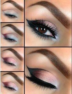Pretty Eye Makeup TUTORIAL #eyemakeup #smokyeye #stepbystep - For more #beautytips go to bellashoot.com