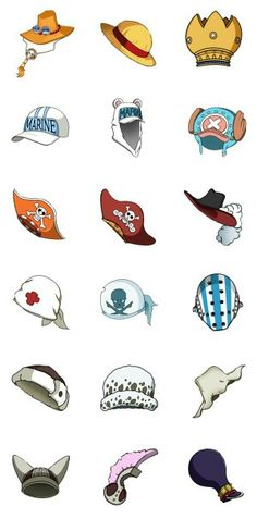 Which hat would you choose and can you name them all?