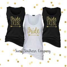 Bride Tribe Tank Tops Wedding and by SweetSouthernCompany on Etsy