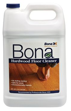 For the hardwood floors, he recommended cleaning them with Bona. This is an awesome cleaner that makes our floors look shiny and new every time we use it. It comes in a large container or in a spray bottle, which is handy for wiping up spills.