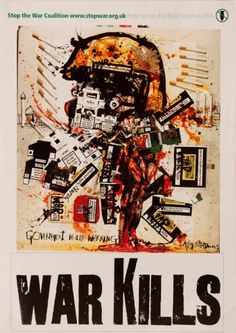 Image result for ralph steadman - stop the war poster