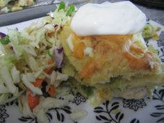 Delicious, tangy, mexican, tomatillo casserole. Need I say more? Casserole, Spicy, Mexican, Fresh, Breakfast, Recipes, Food, Morning Coffee, Recipies