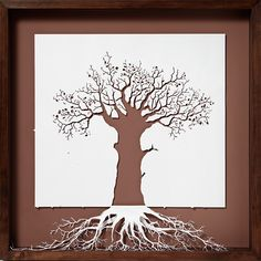 The roots of heaven, by Peter Callesen. Yes, this is papercut. In his portfolio, you'll find skeletons rising from the page, niagara falls, butterflys... really neat! www.petercallesen.com