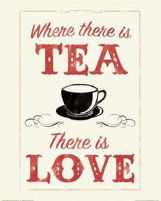 where there is tea there is love canvas art anthony peters 18 x 24 Tee Kunst, Tea And Books, Halloween Cocktails, Cuppa Tea, Snacks Für Party, My Cup Of Tea, Tea Recipes, Recipies, High Tea