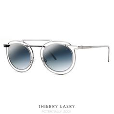 The NEW for Spring 2017 - Thierry Lasry | Potentially is the first full titanium round double-bridge sunglass for women from the French Designer. ⠀