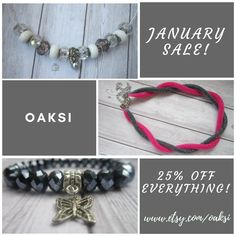 by OAKSI Beaded Jewelry, Beaded Bracelets, Jewellery, January, Jewelry Making, How To Make, Sunday, Etsy, Business