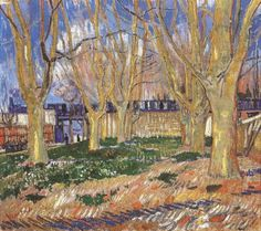 Art of the Day: Van Gogh, Avenue of Plane Trees, March 1888. Oil on canvas, 46.0 x 49.5 cm. Musée Rodin, Paris.