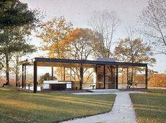 Glass Haus. Philip Johnson's home for 56 years.