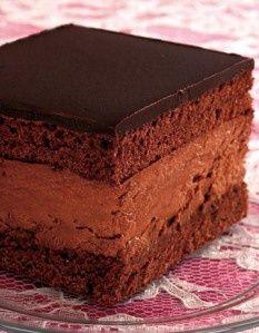 Hungarian Chocolate Mousse Cake food