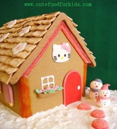 Hello Kitty Gingerbread House to make with America's new friend Gingerbead Hello Kitty form Build A Bear!!!