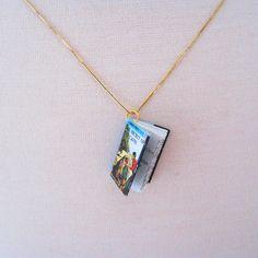 Hardy Boys miniature book necklace