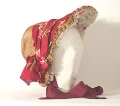 Straw bonnet, 1860s original